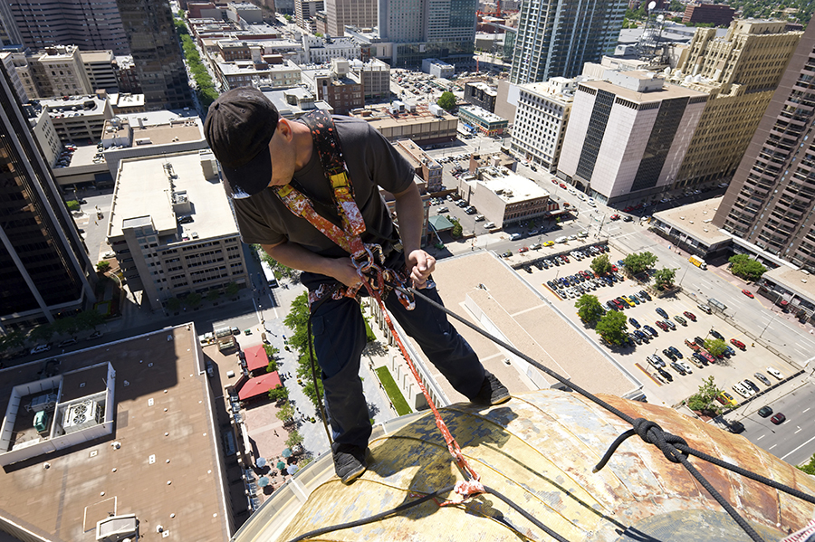 Shatterproof: Rappelling Buildings to Raise Awareness